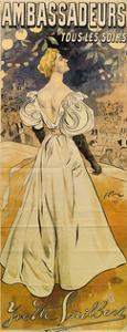 Yvette Guilbert. Ambassadeurs Tous Les Soirs, 1895 by Ferdinand Bac