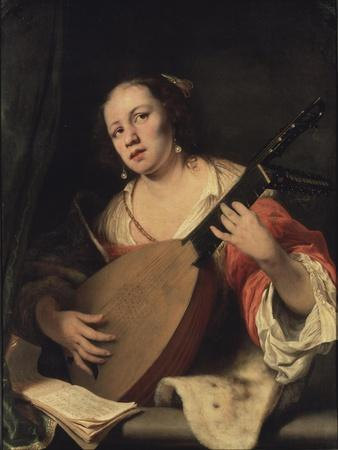 A Lady Playing the Lute, 1654