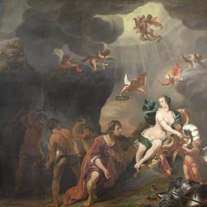 Aeneas Receiving a New Set of Armour from Venus by Ferdinand Bol