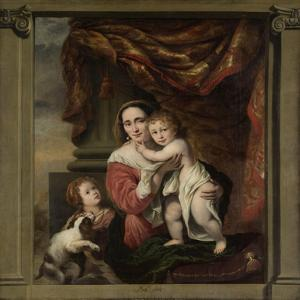 Caritas: Joanna De Geer with Her Children Cecilia Trip and Laurens Trip (B. 1662) by Ferdinand Bol