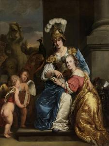 Margarita Trip as Minerva, Instructing Her Sister Anna Maria Trip by Ferdinand Bol