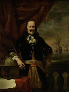 Michiel De Ruyter as Lieutenant-Admiral, 1667 by Ferdinand Bol