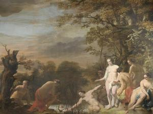 Pharoahs Daughter Discovers Moses in the Rush Basket by Ferdinand Bol