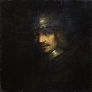 Portrait of a Man with Helmet, 17th Century by Ferdinand Bol