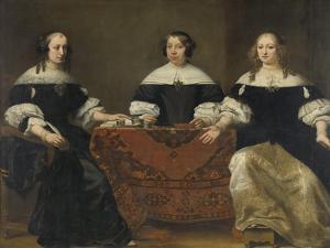 Portrait of the Three Regentesses of the Leprozenhuis, Amsterdam by Ferdinand Bol