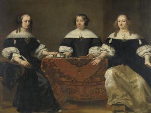 Portrait of the Three Regentesses of the Leprozenhuis, Amsterdam by Ferdinand Bol