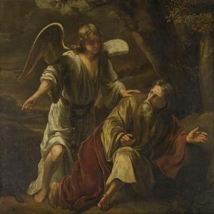 Prophet Elijah Visited by an Angel by Ferdinand Bol