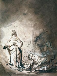 Saul and the Witch of Endor by Ferdinand Bol
