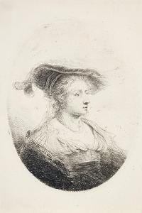Young Lady with Plumed Hat, 1644 by Ferdinand Bol