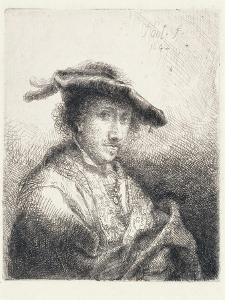 Young Man Wearing a Plumed Hat, 1642 by Ferdinand Bol