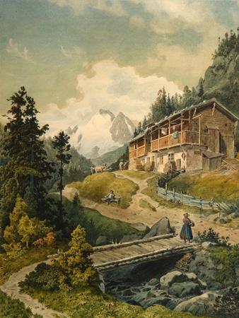 Alpine Landscape with a Bridge