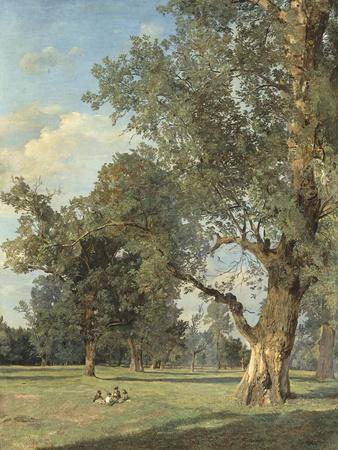 Vue du Prater à Vienne (avec arbre à droite)