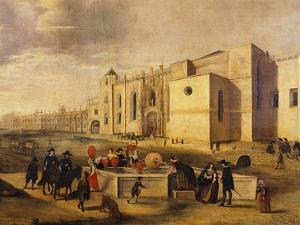 Belem Monastery and Beach, Brazil 17th Century by Ferdinand Georg Waldmuller