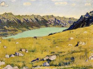 Der Brienzersee Von Breitlauenen Aus, 1906 by Ferdinand Hodler