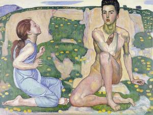 Der Frühling. 1901 by Ferdinand Hodler