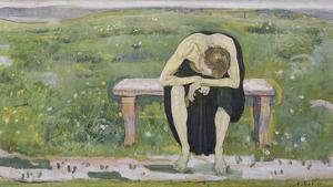 Disappointed. (Young Man) 1891 by Ferdinand Hodler