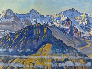 Eiger, Moench and Jungfrau in the Sun by Ferdinand Hodler