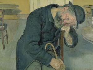 Enttaeuschte Seele, 1891. (Alter Mann) by Ferdinand Hodler