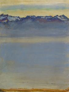 Lake Geneva with Savoyer Alps, 1907 by Ferdinand Hodler