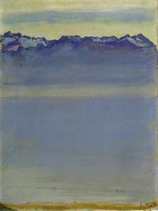 Lake Geneva with Savoyer Alps. 1907 by Ferdinand Hodler