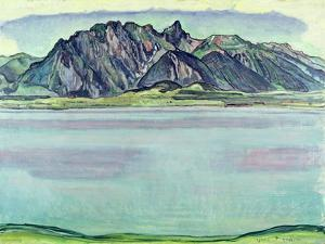 Lake Thun and the Stockhorn Mountains, 1910 by Ferdinand Hodler