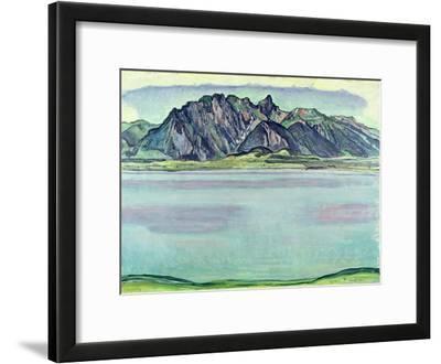 Lake Thun and the Stockhorn Mountains, 1910