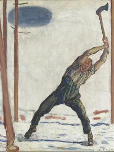 Le bûcheron (der Holzfäller) by Ferdinand Hodler