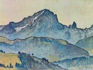 Le Grand Muveran (Berner Alpen), 1912 by Ferdinand Hodler