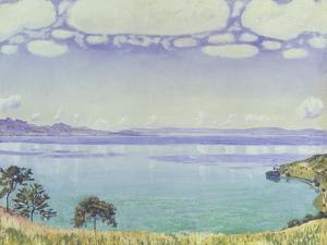 Leman Lake Seen from Chexbre by Ferdinand Hodler