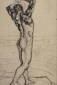 Male Act, Study for the Truth, c.1901-02 by Ferdinand Hodler
