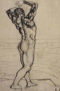 Male Nude, Study for the Truth; Mannlicher Akt, Studie Zur Wahrheit, C.1902 by Ferdinand Hodler