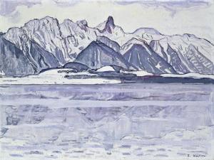 Stockhorn Verschneit, 1913-1914 by Ferdinand Hodler