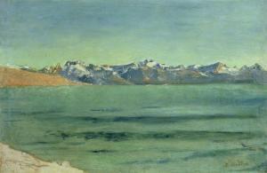 Sunrise over Mont Blanc, C.1890 by Ferdinand Hodler