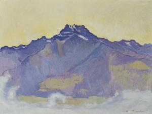 The Dents Du Midi, Viewed from Chesieres, 1912 by Ferdinand Hodler