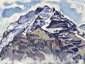 The Jungfrau, as Seen from Muerren by Ferdinand Hodler