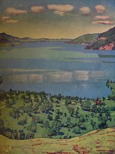 'The Lake of Thun, from Leissigen', c1910 by Ferdinand Hodler