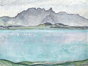 Thunersee with the Stockhorn Mountains, 1910 by Ferdinand Hodler