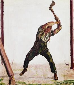 Woodcutter, 1910 by Ferdinand Hodler