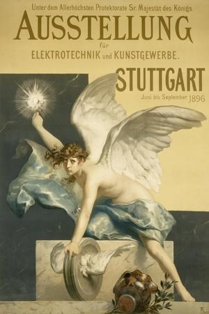 Poster for the Exhibition 'Elektrotechnik Und Kusntgewerbe', 1896