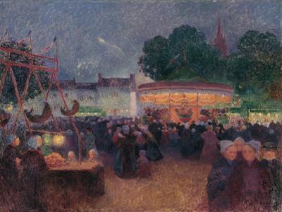 Night Fair at Saint-Pol-De-Léon, Ca 1896 by Ferdinand Loyen du Puigaudeau