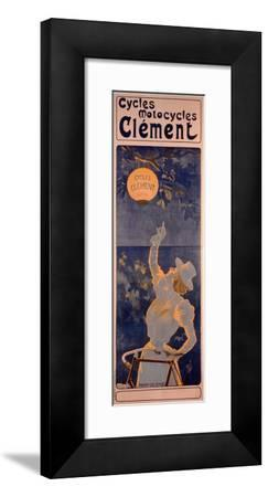 Poster Advertising Cycles Clement, Paris, Printed Bourgerie and Cie., C.1895 (Colour Litho)