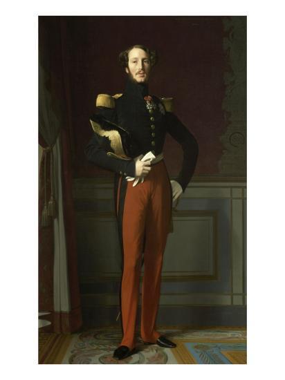 Ferdinand Philippe, duc d'Orléans (1810-1842), représenté en uniforme de général de division-Jean-Auguste-Dominique Ingres-Giclee Print