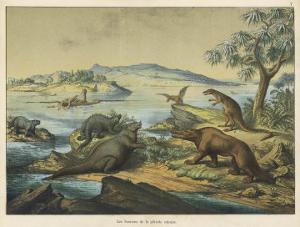 Animals and Plants of the Post-Jurassic Era in Southern England by Ferdinand Von Hochstetter