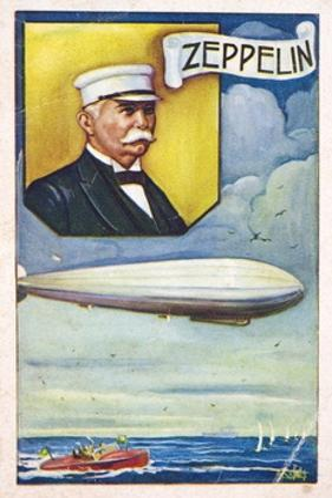 Ferdinand Von Zeppelin with Airship