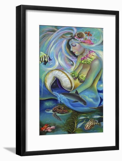 Fergierina the Mermaid-Sue Clyne-Framed Giclee Print
