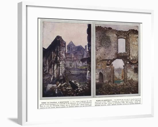 Ferme Du Chateau a Montceaux, Ruines De Montceaux-Jules Gervais-Courtellemont-Framed Photographic Print