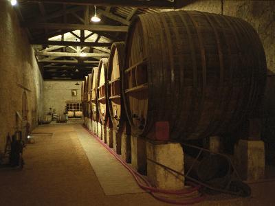 Fermentation Vats in Winery, Domaine Saint Martin De La Garrigue, Montagnac-Per Karlsson-Photographic Print