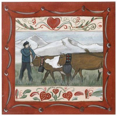 Fermier et Vache-Nathalie Renzacci-Art Print
