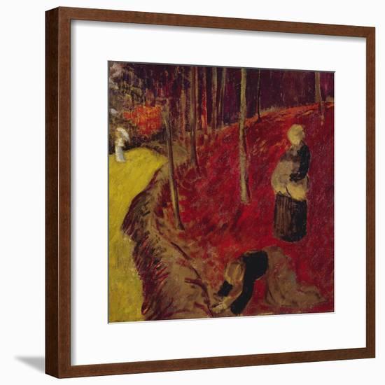 Fern Gatherers in the Bois d'Amour at Pont Aven; Les Ramasseuses de Fougeres Au Bois d'Amour a…-Paul Serusier-Framed Giclee Print