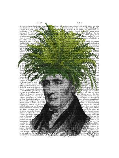 Fern Head Plant Head-Fab Funky-Art Print
